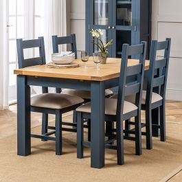 Westbury Blue Painted Extending Dining, Dining Room Table And Chairs