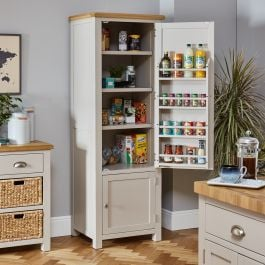 Cotswold Grey Painted Single Kitchen Larder Pantry ...