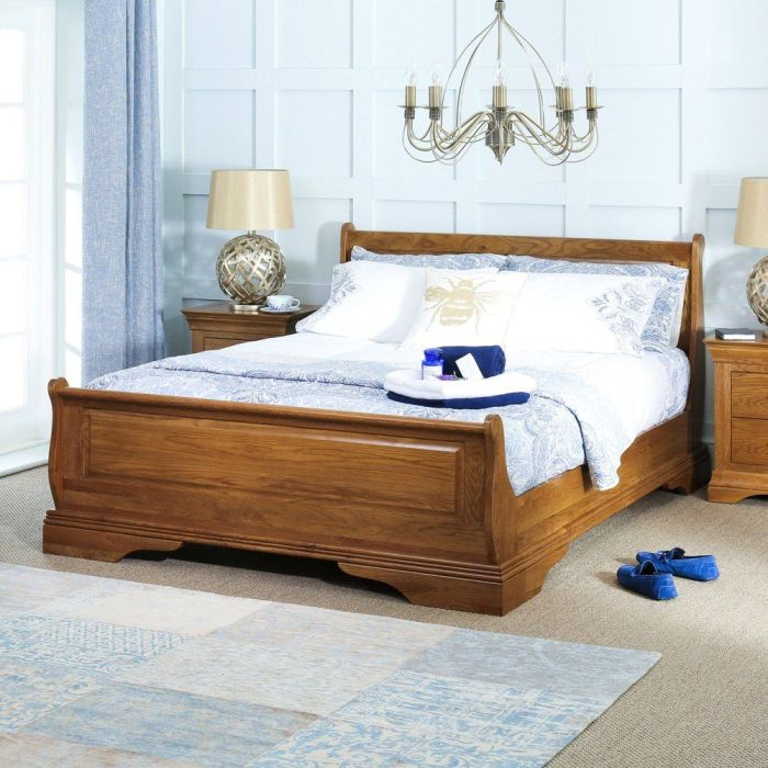 MOF  Cotswold Solid Oak Wood Bed Frame Double Size CLEARENCE SALE !!SOLID OAK