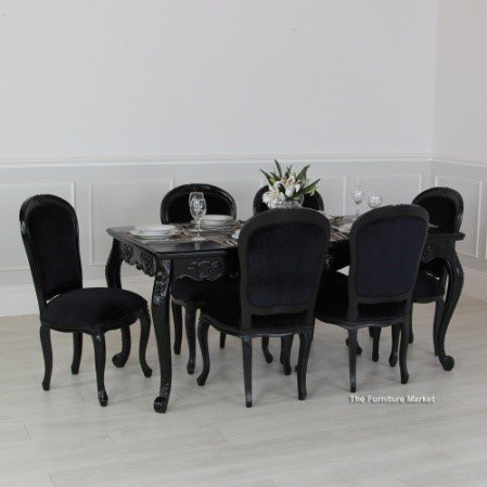 french noir dining table