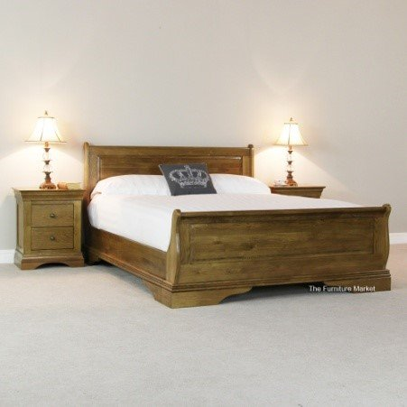 French Oak Bed