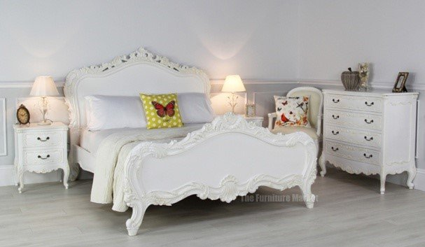 White painted French Chateau furniture