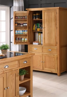 View our stylish stand alone larder cupboards