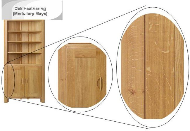 Example of Medullary Rays in oak Furniture