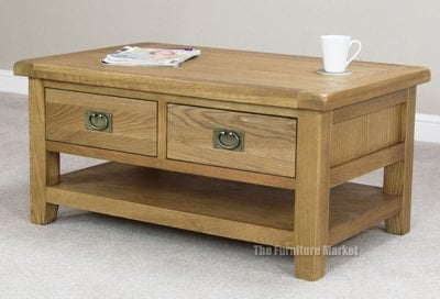 quality cheshire oak coffee table