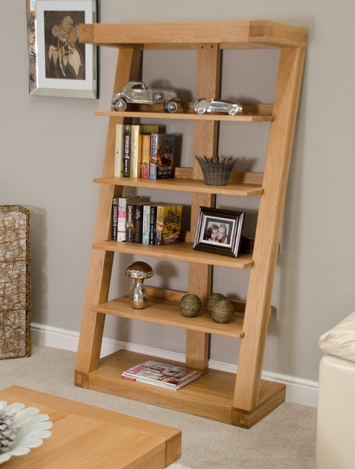 oak style z frame bookcase