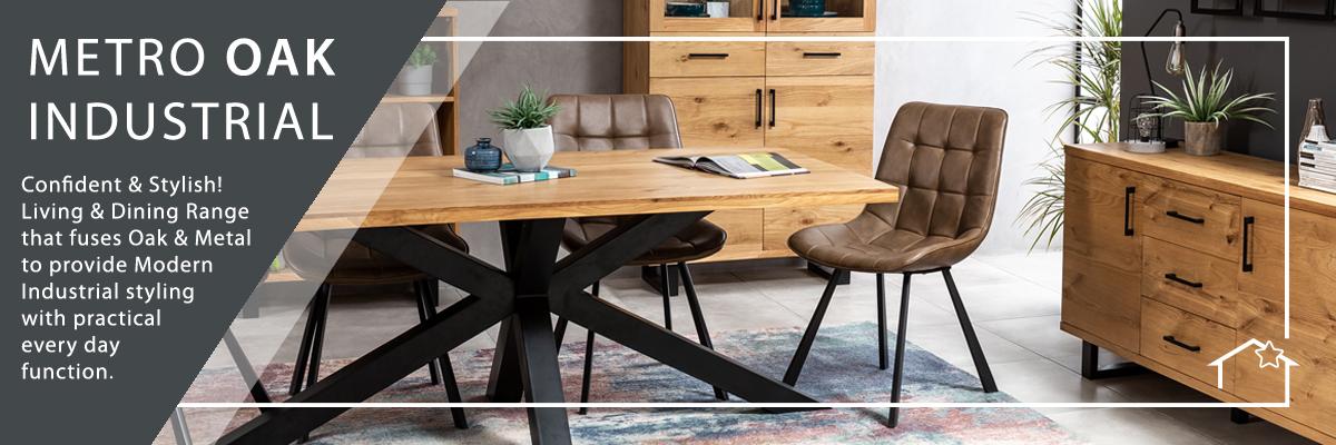 Metro Industrial Oak Furniture
