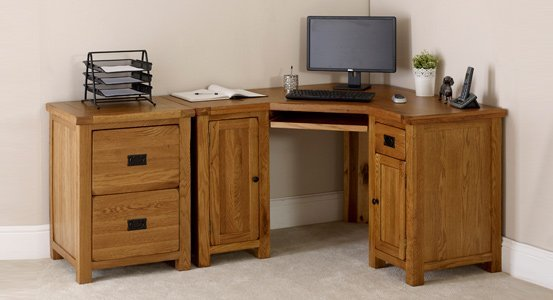 Oak Twin Pedestal Desk