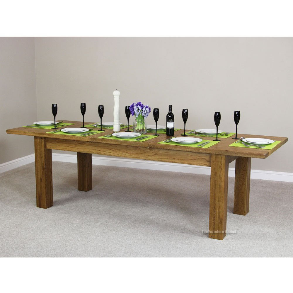 Rustic Oak Extending Dining Table Archives The Furniture Market