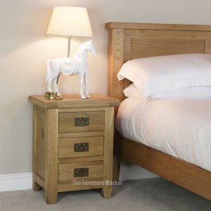 Cheshire oak 3 drawer bedside
