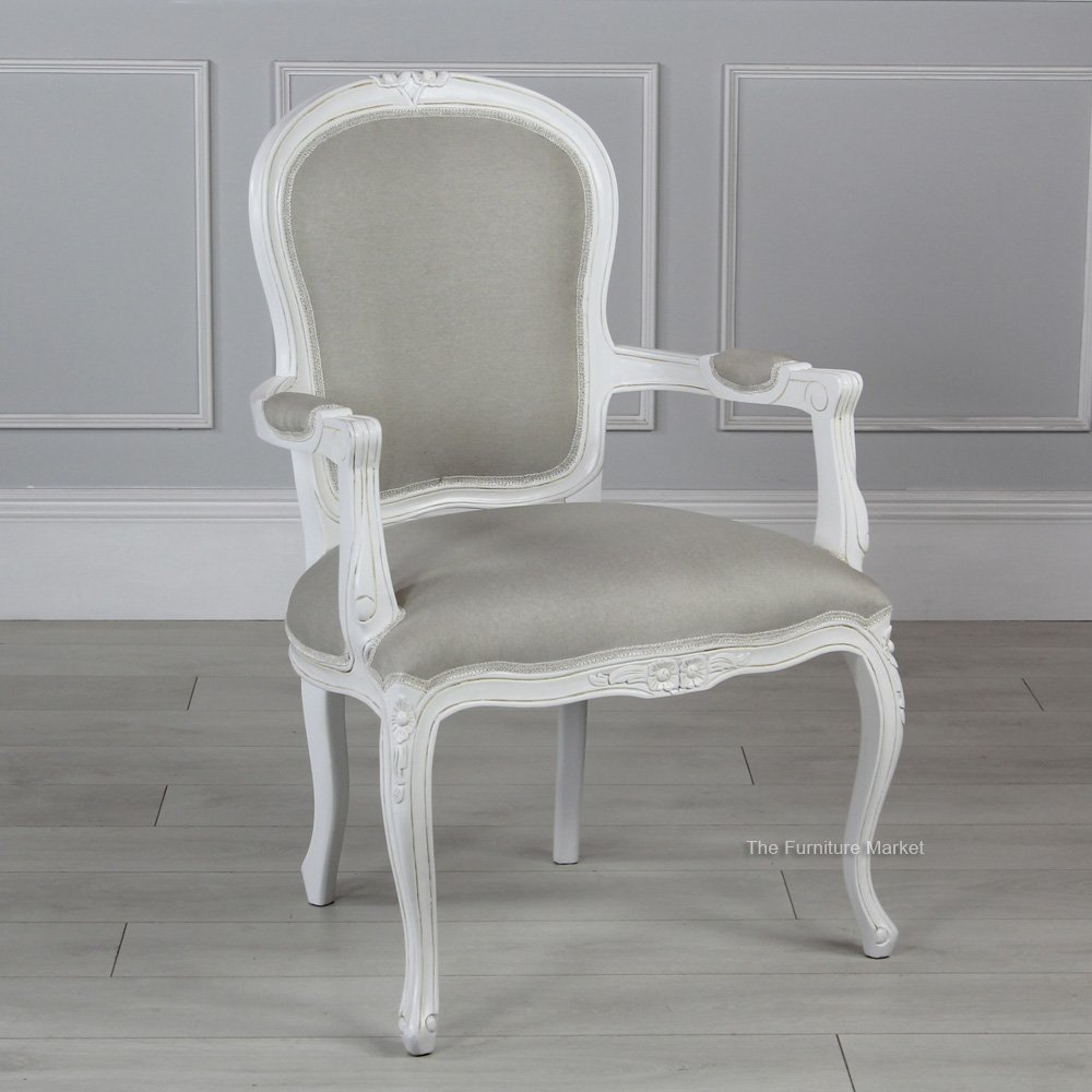 French chateau white painted armchair & french chateau white painted armchair Archives - The Furniture Market