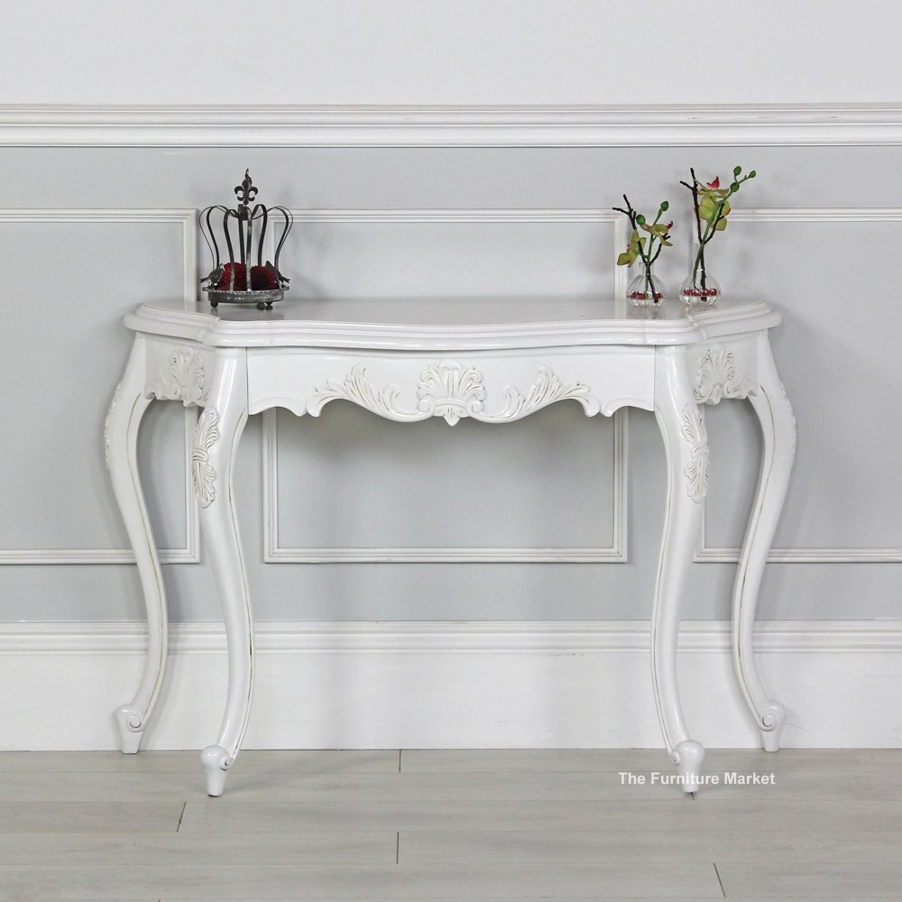 Product Of The Week French Chateau White Painted Carved