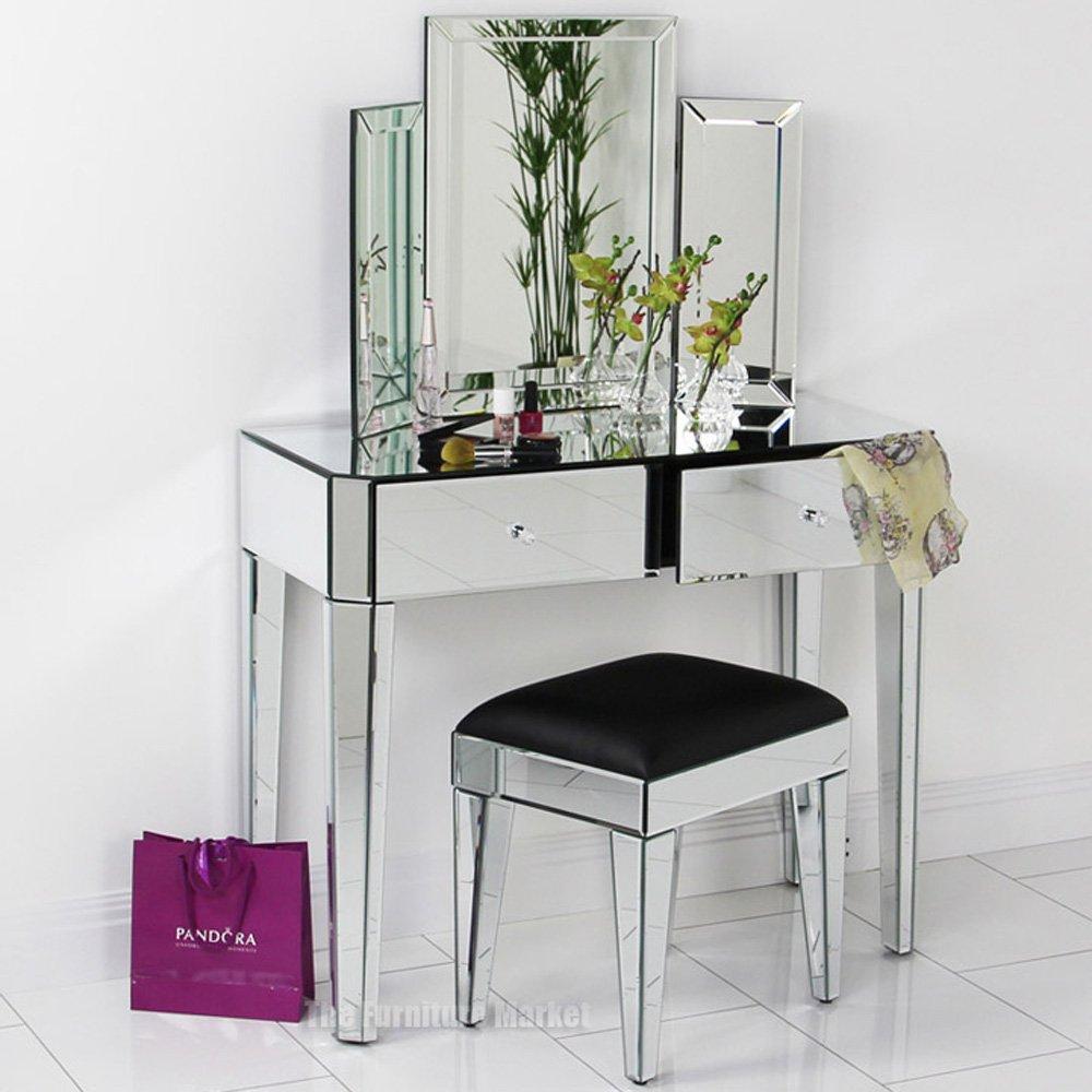 VEN12 VEN14 VEN39 Mirrored Deco Dressing Table Set