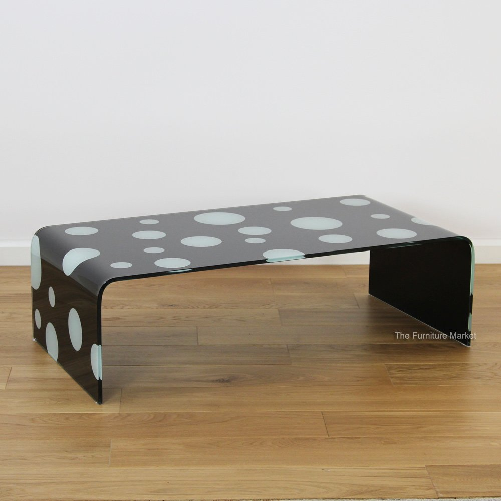 Product of the week geo glass polka dot coffee table the furniture market Geo glass coffee table
