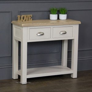 Grey Stone Painted Console Table
