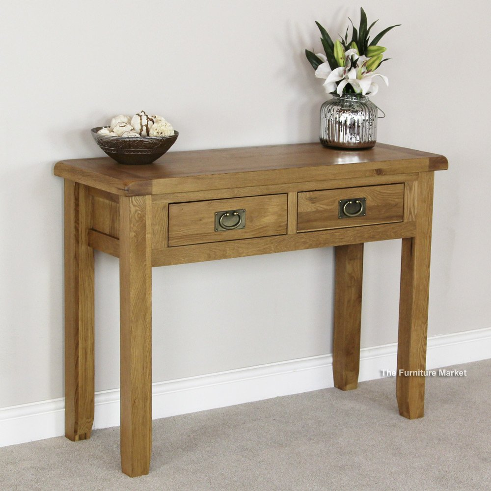 oak console tables oak hall tables. Cheshire Oak 2 Drawer Console Table Tables Hall A