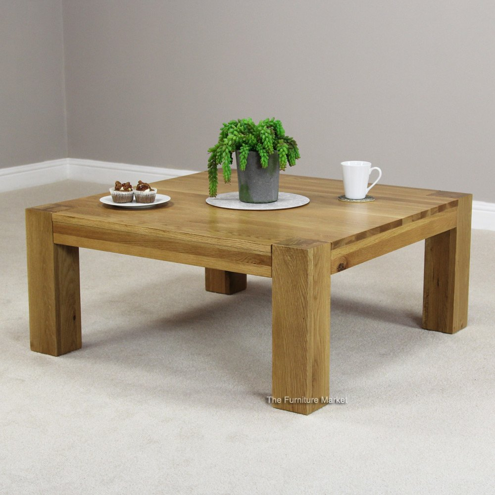 chunky oak square table Archives The Furniture Market