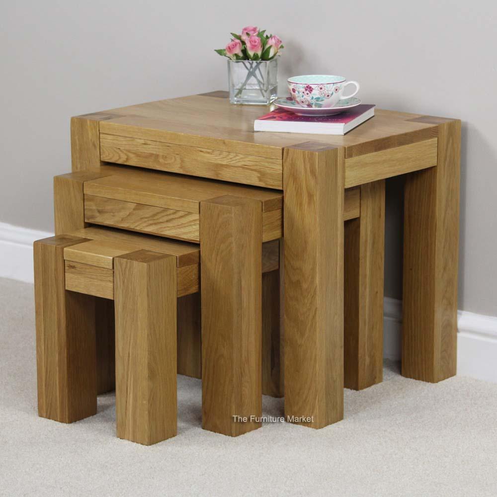 oak nest of tables archives the furniture market. Black Bedroom Furniture Sets. Home Design Ideas