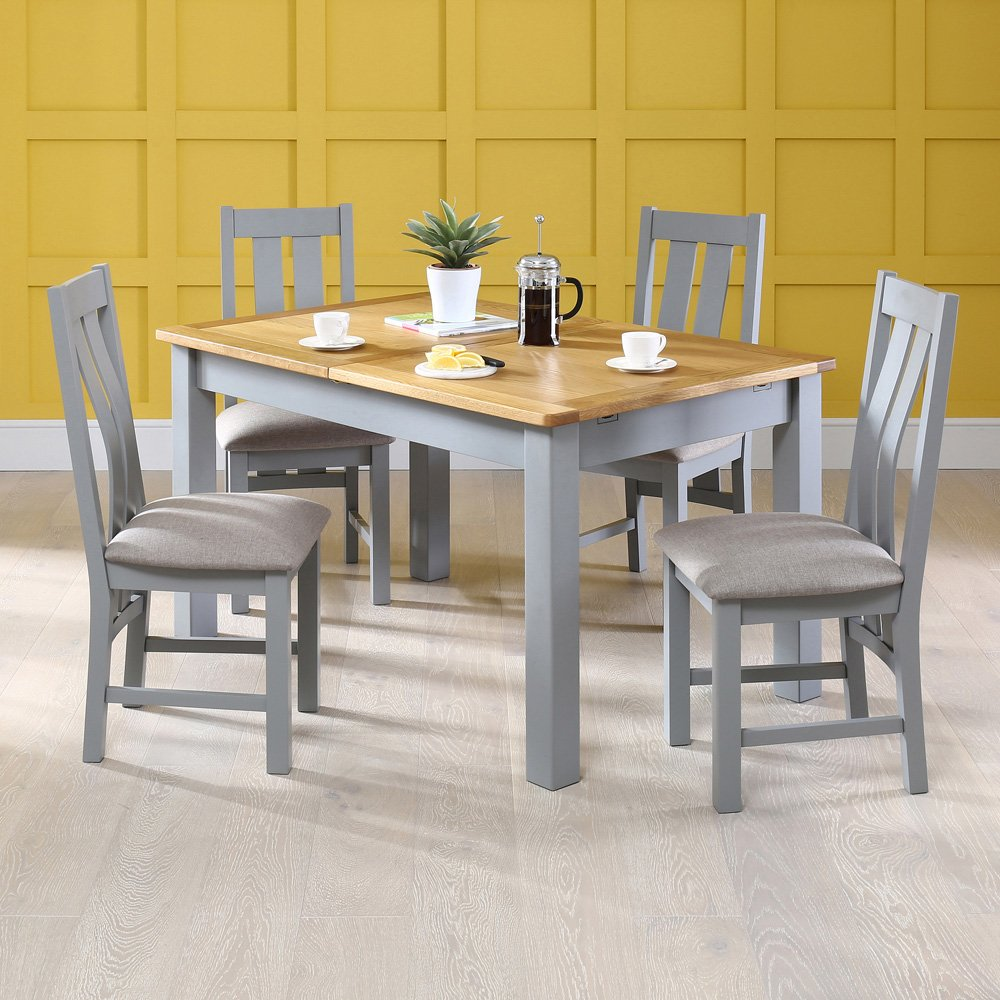 Product Of The Week Manor Grey Painted Dining Table With 4 X