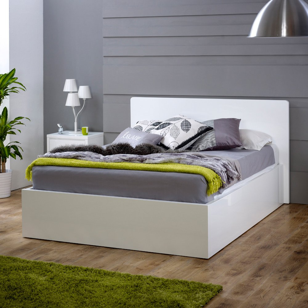 White High Gloss 5ft King Size Bed Archives - The Furniture Market