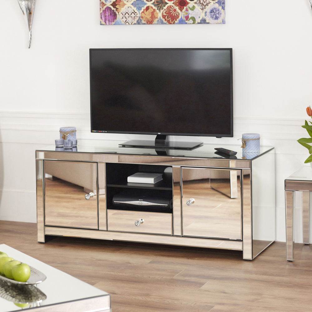 Product Of The Week Venetian Mirrored Widescreen Tv Unit The  # Meuble Tv Hifi Design