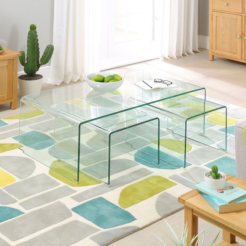 Venetian mirrored furniture archives the furniture market Geo glass coffee table